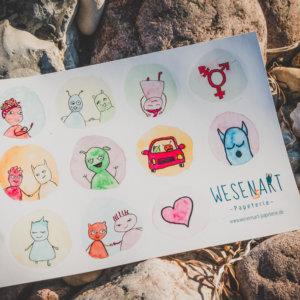 WESENsART-Produktbild: Stickerset »Vielfalt tut gut«