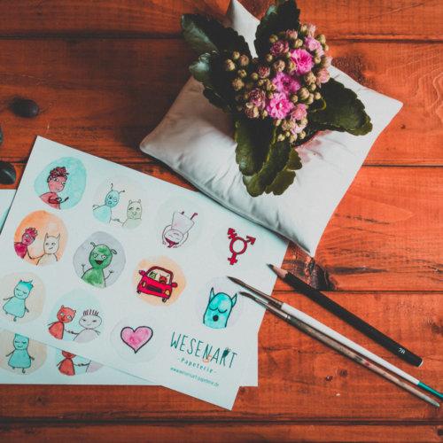 Wunderbarer Sticker-Bogen »Vielfalt tut gut«