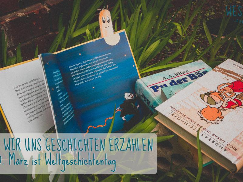 Titelbild WESENsART | Weltgeschichtentag. Wesen zwischen Blumen lesen Kinderbücher