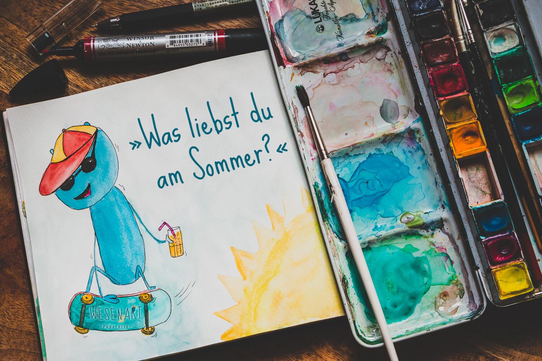 WESENsART – Alex auf dem Skateboard: »Was liebst du am Sommer?«