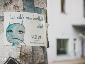 WESENsART Produktbild: Sticker Wesen haben was zu sagen. Dieses Mal »Ich wähle mein Geschlecht selbst.«