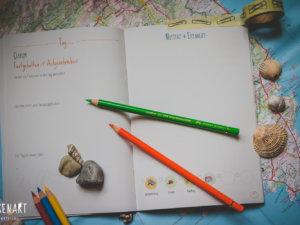 WESENsART-Produktbild: Notizbuch »Wenn Wesen Reisen – Gesammelte Urlaubserinnerungen«