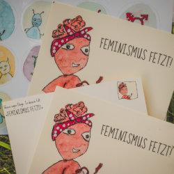 WESENsART // Postkarte Wesen sagen Dinge: »Feminismus fetzt!«