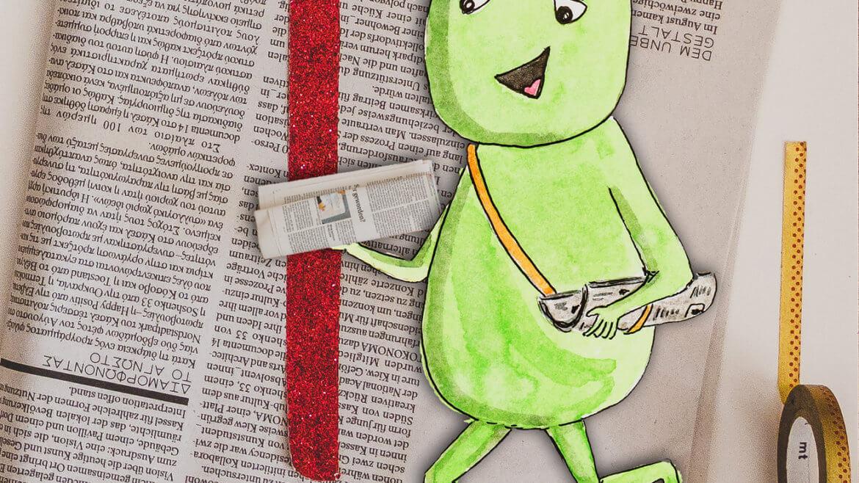 WESENsART – Chakka trägt Zeitungen aus.
