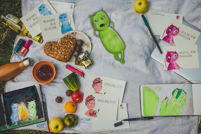WESENsART – Chakka relaxt beim Picknick