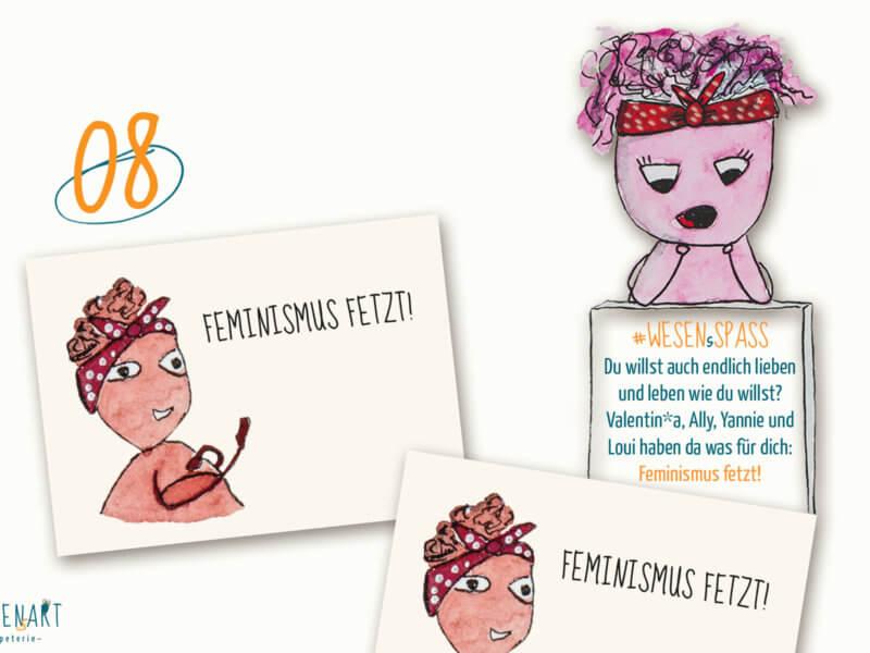 Adventskalender to go: 08. Dezember Feminismus fetzt.