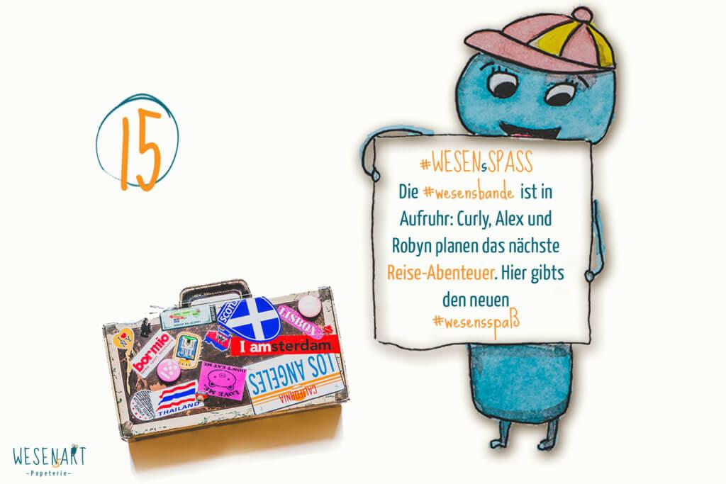 Adventskalender to go: 15. Dezember // Reise-Abenteuer mit der WESENsBande