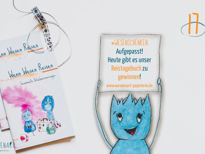 Adventskalender to go: 17. Dezember // Reisetagebuch zu gewinnen.