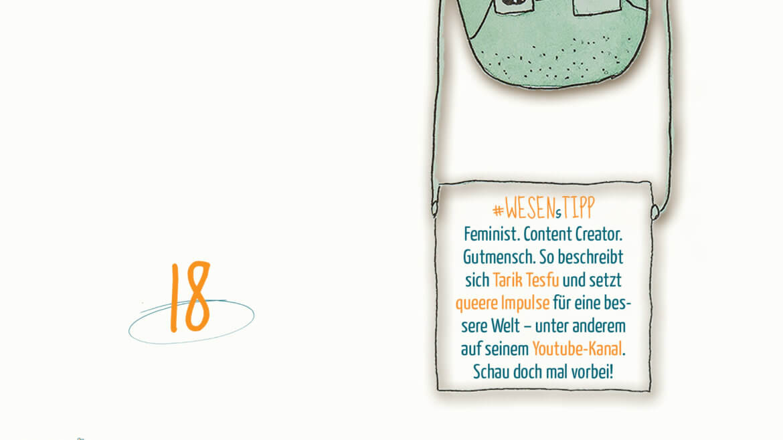 WESENsTipp im Advent In der Kategorie #wesenstipp wollen wir dir Aktivist*innen, #Onlineshops #Aktionen, #Literatur und andere Dinge für die Seele und den Geist empfehlen. Heute haben wir ein wunderbares Interview mit Feminist, Content Creator & Gutmensch @tarik_tesfu für dich.