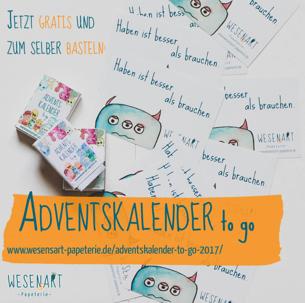 WESENsART – Adventskalender to go