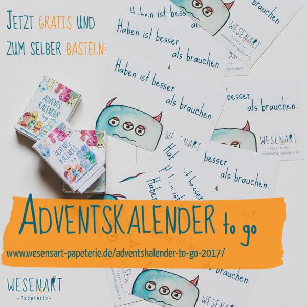WESENsART – Adventskalender to go