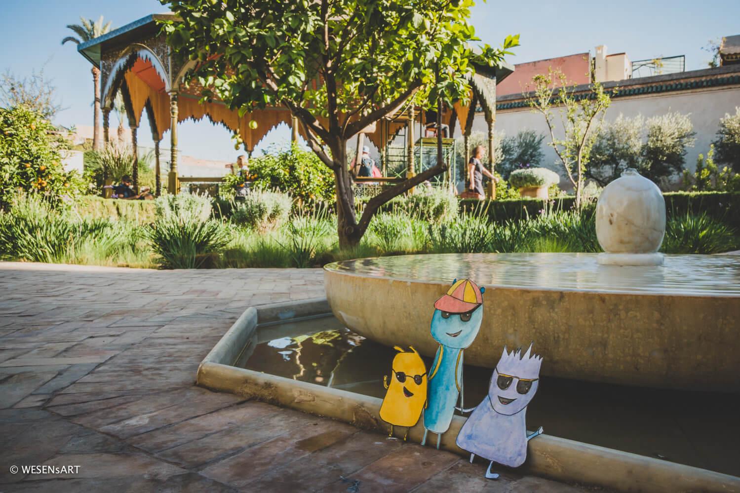 WESENsART – wenn Wesen reisen, dieses Mal Marrakesh, Secret Garden, ein Reise-Abenteuer