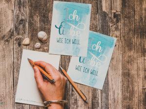 WESENsART-Produktbild: Postkarte: »Ich liebe wie ich will.«