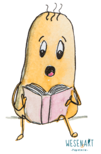 Feministisch lesen. Costi sitzt und liest in einem Buch.