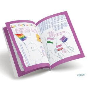 Blick ins Buch: es werden Fahnen erklärt