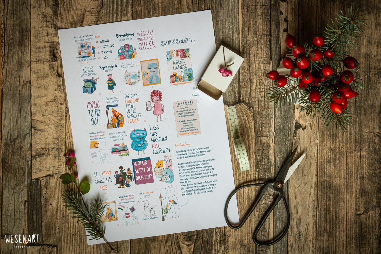 WESENsART Adventskalender to go | Material